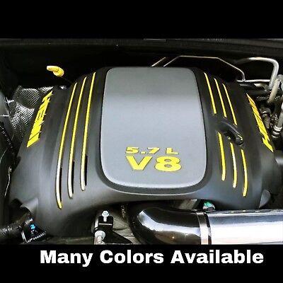 Dodge Mopar 5.7 Hemi Engine Cover Vinyl Decal Kit (SELECT COLOR) Charger Durango