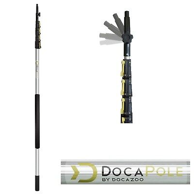 DocaPole 6-24 FT Extension Pole Telescopic Light Bulb Changer Window Cleaning - Telescoping Cleaning Pole