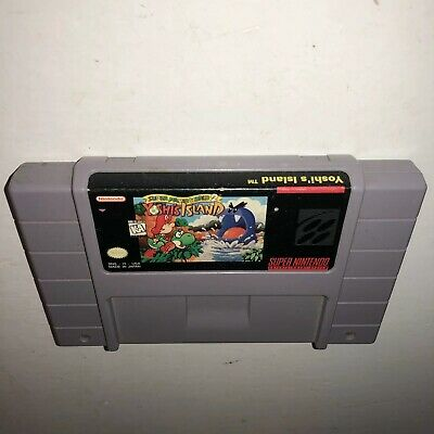 Super Nintendo Game YOSHI'S ISLAND! SAVES! Tested&WORKS MARIO WORLD 2 Fun SNES