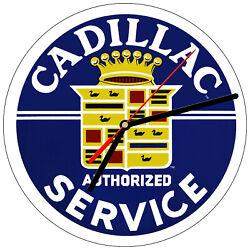 8 WALL CLOCK - Vintage Looking Sign Garage #8 Cadillac Service Mechanic Retro