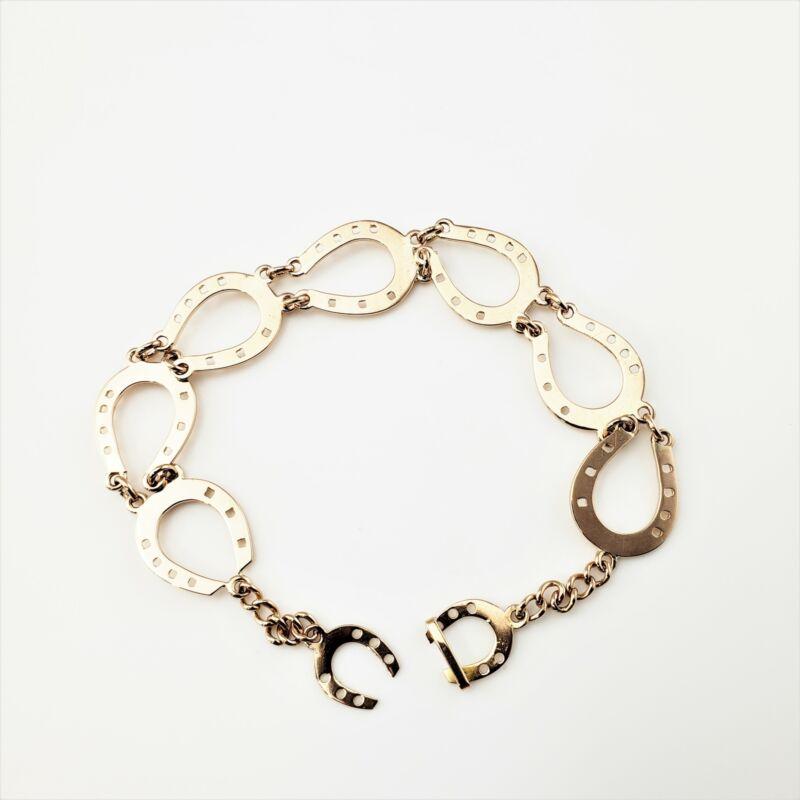 Vintage 14 Karat Rose Gold Horse Shoe Bracelet #8767