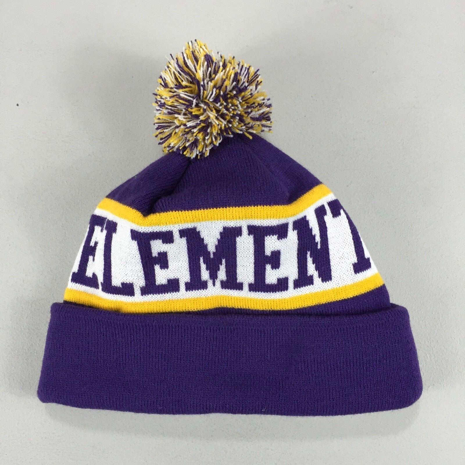 Details about Element Fairfax Pom Pom Beanie Hat Purple Brand New. 43d2c98f8d5e