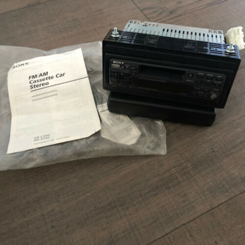Sony XR-C350 Car Stereo Cassette Player with Manual and Hookups