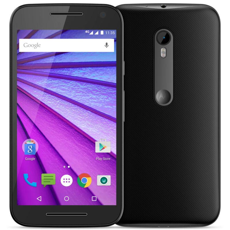 Motorola Moto G (3rd Generation) 4G with 8GB Memory Cell Phone (Unlocked) Black 00852NAGEN
