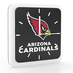 3 in 1 NFL Arizona Cardinals Home Office Decor Wall Desk Magnet Clock 6 inches