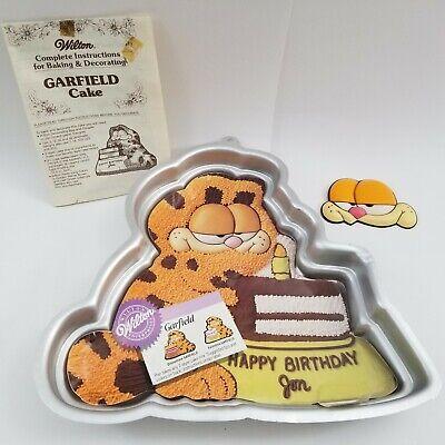 Wilton GARFIELD CAKE PAN or Jello Mold + Insert Vintage