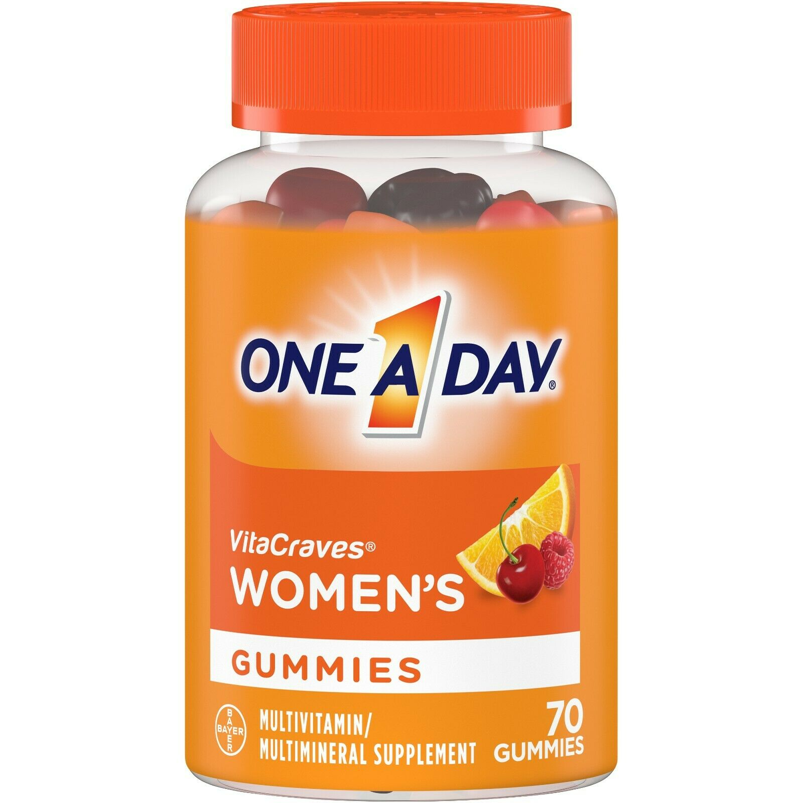 ONE A DAY Womens Vitacraves Multivitamin  70 Gummies ~ Exp. 03/2021