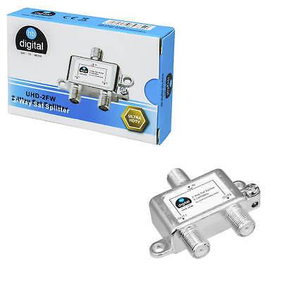 2-fach SAT Verteiler Splitter 5-2400MHz Rückkanal Erdungsklemme DVB ...