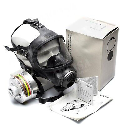 Msa Auer 3s Full Face Mask Protection Respirator Brand New Full Set