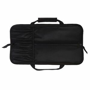 5 Pocket Chef Knife Roll Bag Case Black Ergo