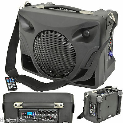 50W Portable Outdoor PA Speaker System - Mobile Wireless Mic