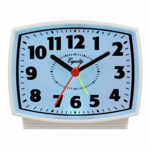 Equity by La Crosse 33100 Electric Analog Alarm Clock - White