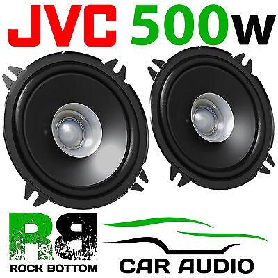 JVC 500 WATTS 5.25 Inch 13cm Dual Cone Car Van Door Dash Shelf Speakers Pair