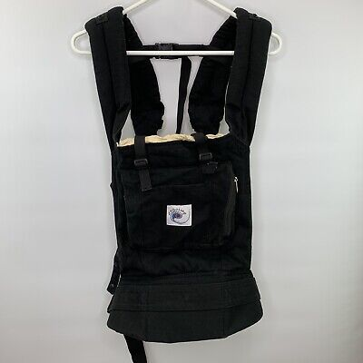 Ergo Baby Infant Carrier Original Classic Black With Tan Hood