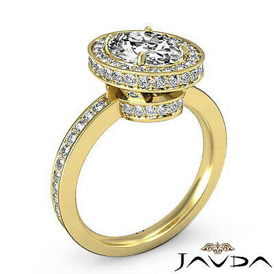 Crown Halo Pave Set Oval Cut Diamond Engagement Ring GIA Certified F VS2 1.82Ct 7