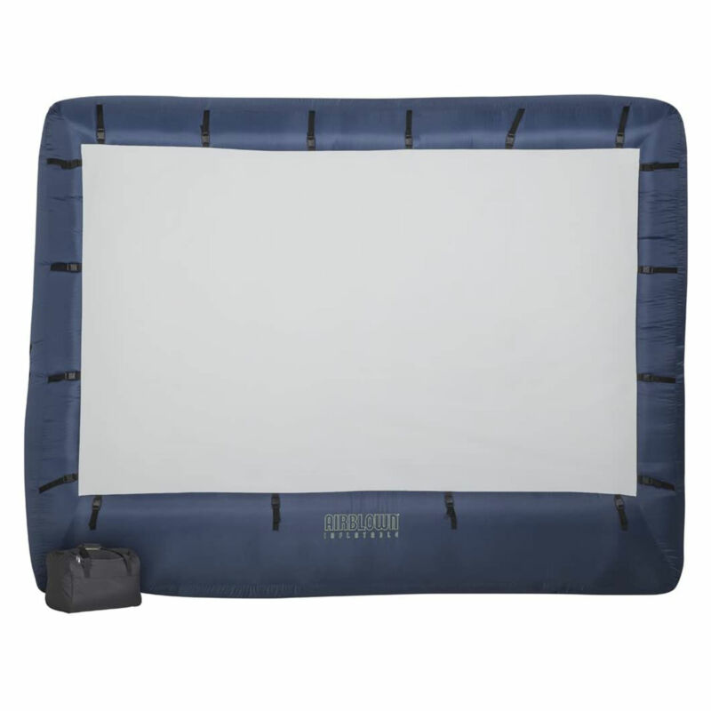Gemmy Self Inflating Widescreen 123 Inch x 70 Inch Outdoor Projection Screen