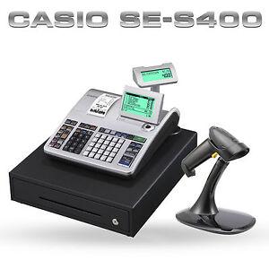 NEW CASIO SE-S400 SES400 SE S400 CASH REGISTER TILL + BARCODE SCANNER