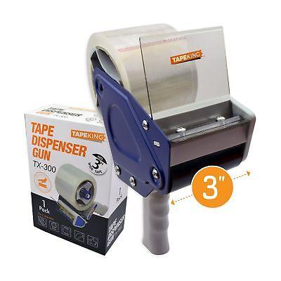 Tape King Tx300 3 Inch Wide Packing Tape Dispenser Gun - Plus 1 Free Roll Of ...