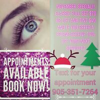 Classic eyelash extensions, Lift and Tint
