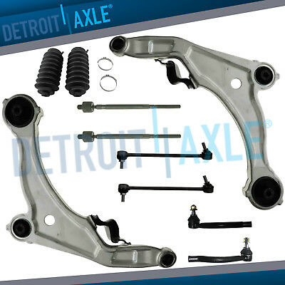 Front Lower Control Arm Tierod Sway Bar Link 10pc for 2009 - 2014 Nissan -