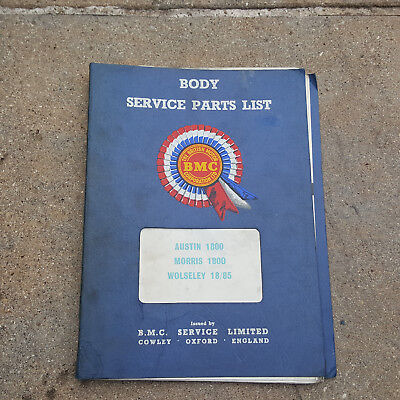 AUSTIN MORRIS 1800 WOLSELEY 18/85 BODY SERVICE PARTS LIST AKD5041 LANDCRAB