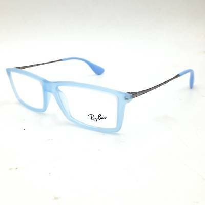 $312 RAY-BAN WOMENS BLUE EYEGLASSES FRAMES GLASSES OPTICAL CLEAR LENS RB 7021