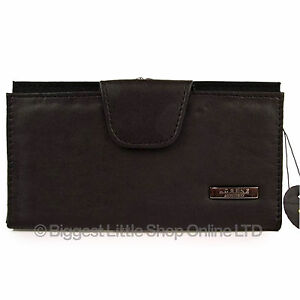 New-Black-Ladies-Large-Leather-Purse-Wallet-TOP-QUALITY