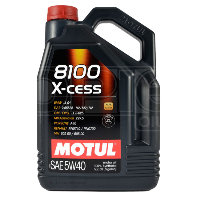 Motul 8100 X-cess 5W-40 Fully Synthetic Engine Motor Oil 5 Litres 5L