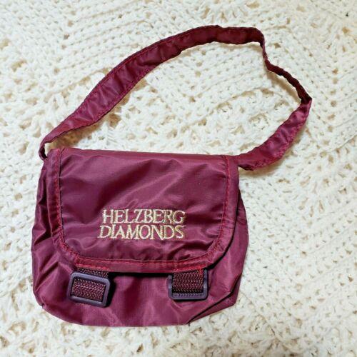 Helzberg Diamonds Burgandy Mini Couriers Gift Bag