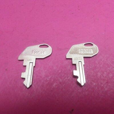 Parting Tec Ma-600 Cash Register 2 Mgr Keys 9r03 Ffa-0049002 Tc22