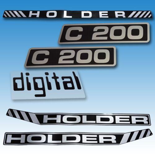 Aufkleber-Satz Aufklebersatz Aufkleber Holder C 200 Digital Traktor Schlepper  Foto 1