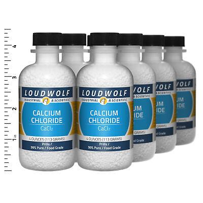 Calcium Chloride 2 Lb Total 8 Bottles Food Grade Prills Usa Seller