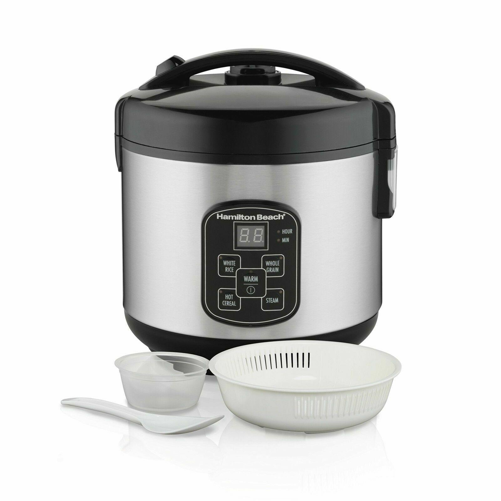 Hamilton Beach Digital Programmable Rice Cooker & Food Steam