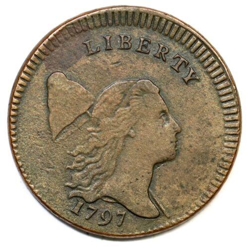 1797 C-3a R-3 Low Head Plain Edge Liberty Cap Half Cent Coin 1/2c