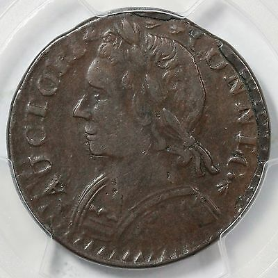 1787 M 14 H Pcgs Au 53 Mailed Bust Left Small Date Connecticut Colonial Coin