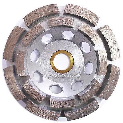 4 Double Row Concrete Diamond Grinding Cup Wheel 16 Segs - 78-58 Arbor