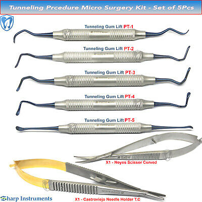 Tunneling Kit Dental Surgical Implant Periodontal Tissue Gum Graft Micro-surgery