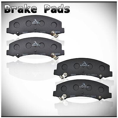 LAMDA Set of 4 Front Ceramic Disc Brake Pads w/ Slots Fit Buick/Chevy/Cadillac