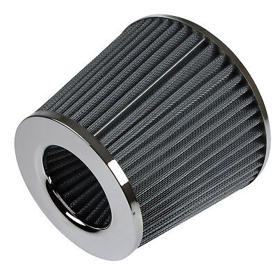 Universal Car Air Filter Induction Kit Sports Car Cone Air Filter Chrome Finish