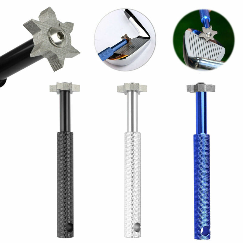 Groove Wedge Iron U/V Square Sharpener&Cleaner Golf Club Regrooving Tool 6 Blade