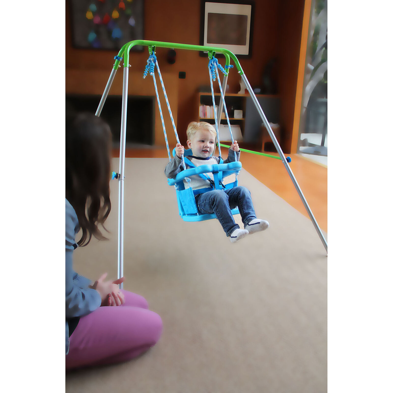Sportspower Indoor/Outdoor My First Toddler Swing Portable
