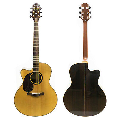 Left Handed Electro Acoustic Guitar Fairclough Mountain Spruce Top Fishman Amp