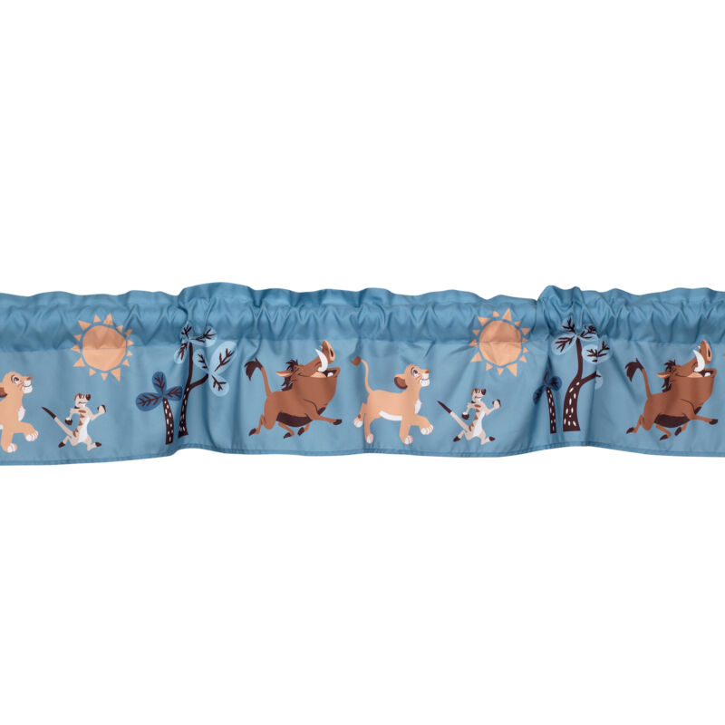 Disney Baby Lion King Adventure Window Valance  by  Lambs & Ivy - Blue, Brown
