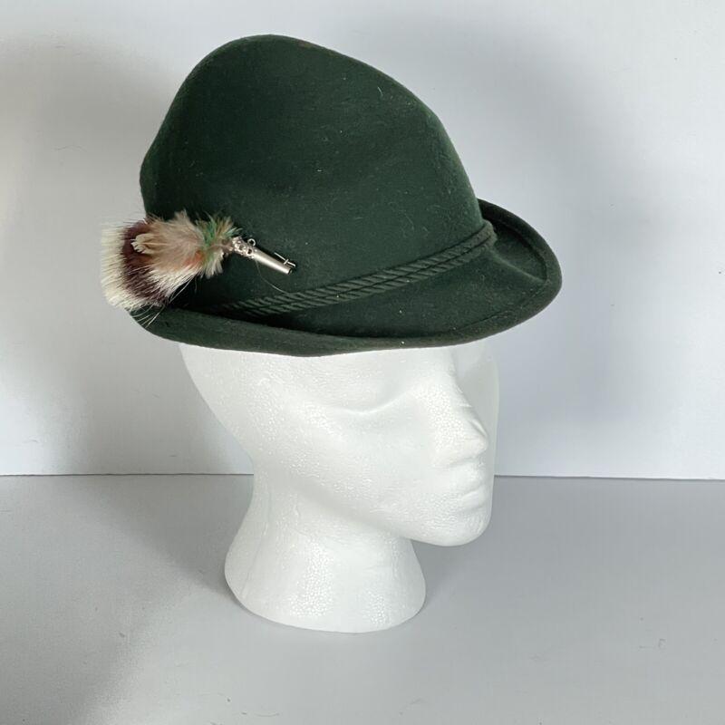 Green Alpine Hat Pin German Austria Tyrolean Oktoberfest Wool Bavarian felt hat