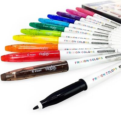 Pilot Frixion Colors Erasable Marker Pens – Wallet of 12 Assorted Colours