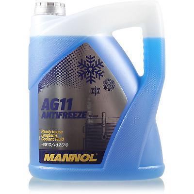 Kühlerfrostschutz Typ G11 MANNOL Antifreeze AG11 (- 40°C) 1x5 Liter blau