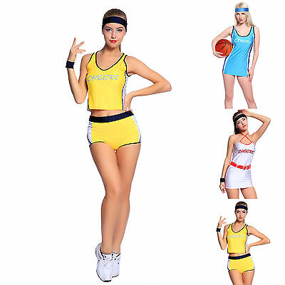 Basketball Player Costume (Sexy High School Girl Basketball Player Outfit Cheerleader Fancy Dress)