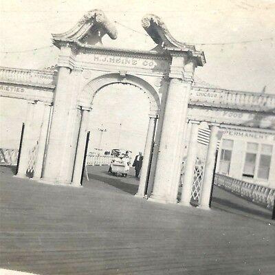 8 Edwardian photos Heinz Pier Atlantic City NJ c 1905 early electric cart