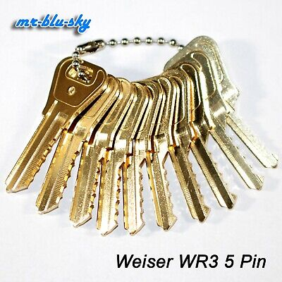 Weiser Lock Wr3 Wr5 Space Depth Keys Locksmith Code Cutting Key Set
