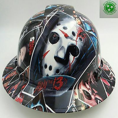 Hard Hat Full Brim Custom Hydro Dipped Osha Approved Horror Movie Poster Bomb